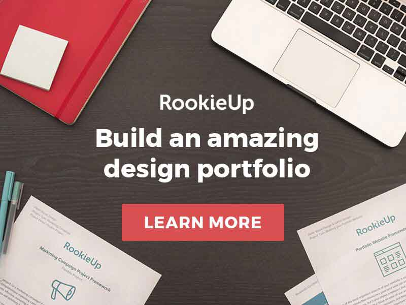 Build your design portfolio with RookieUp